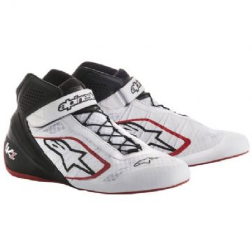 ALPINE STARS TECH 1KZ BOOTS WHT/BLK/RED